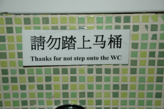 How to use a Chinese toilet