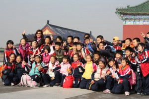 School children at Temple of Heaven