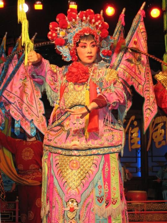 Chinese Opera singer in Chengdu